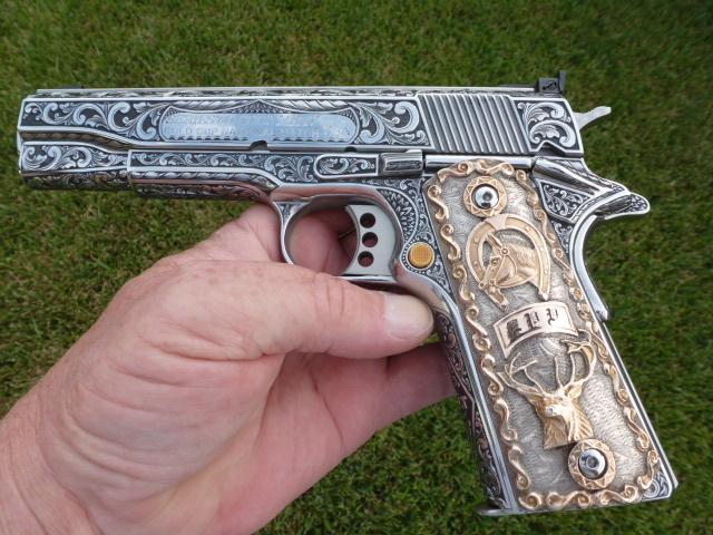 Engraved Colt .45 ACP - Wish it were mine