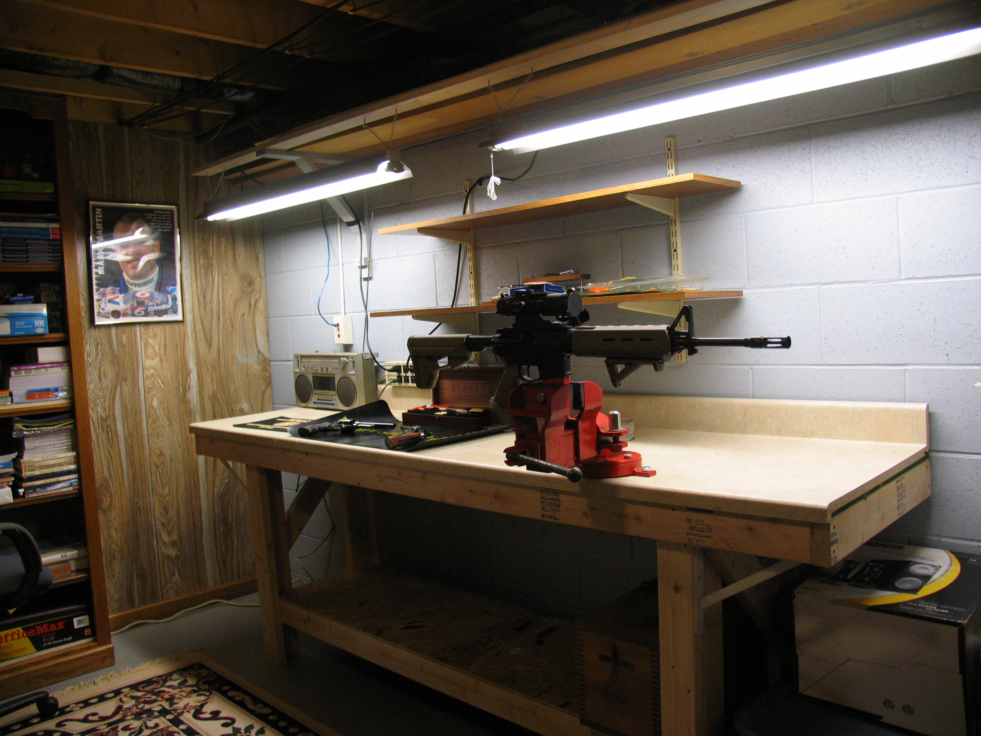 New Gun Cleaning Bench Is Finished