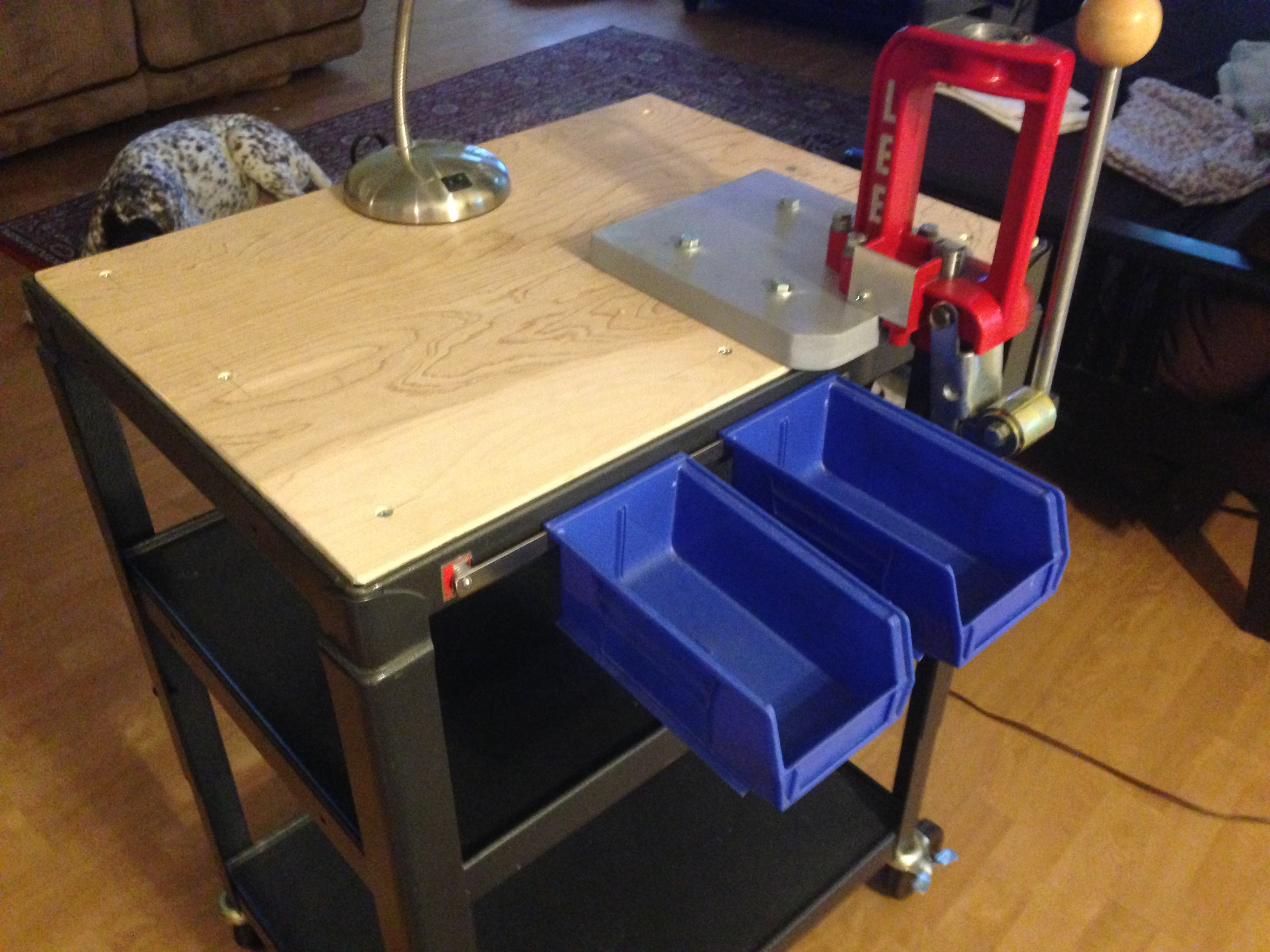 My Portable Reloading Bench - Part 1 - YouTube  Portable Reloading Table