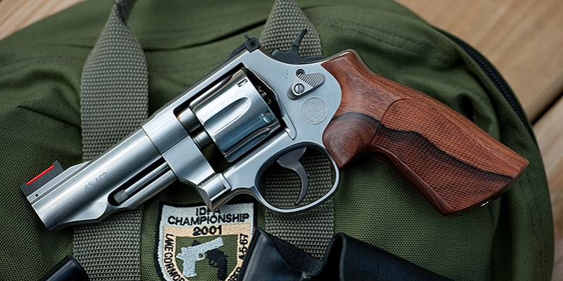 Hogue wood grips for S&W 627