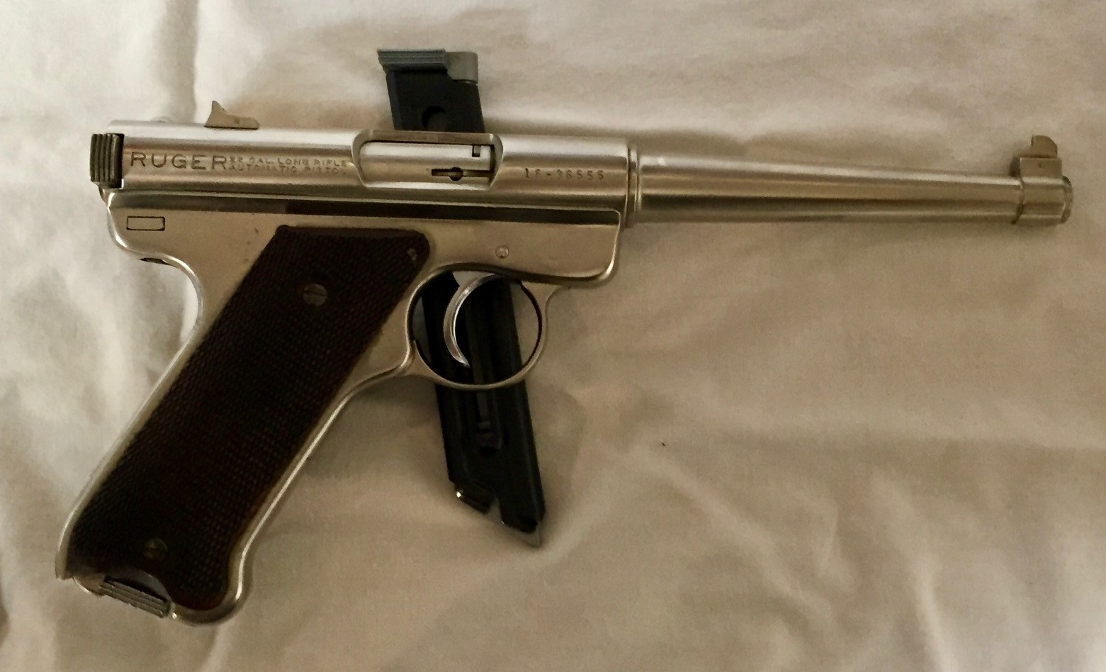 Name:  Ruger Nickel Tapered 6 inch Barrel Right Side.jpg