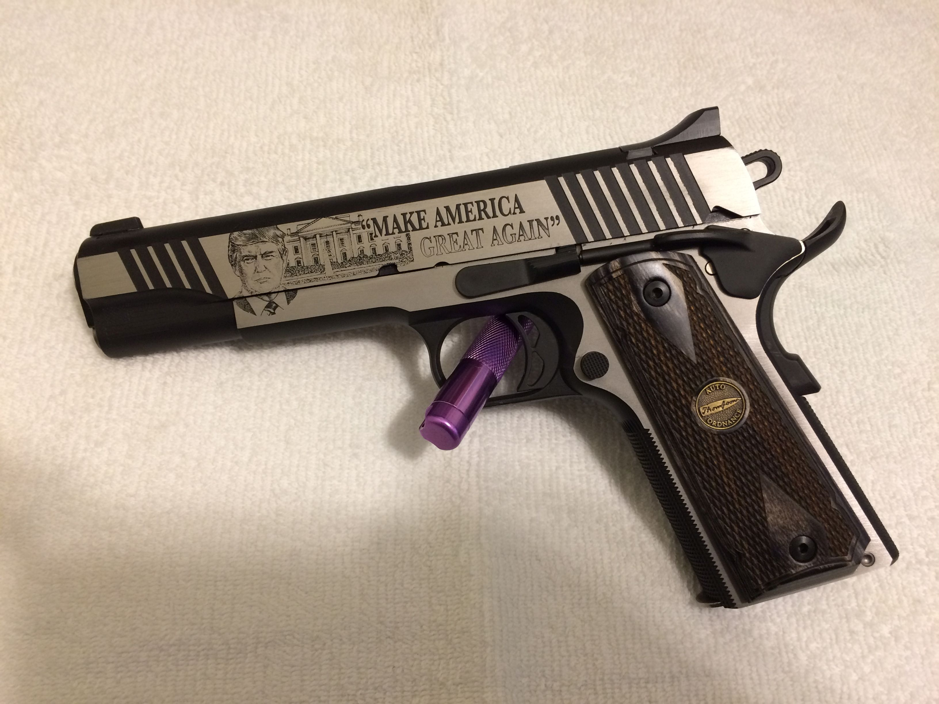 Name:  Thompson 1911 Custom 45 ACP TRUMP MAGA - 01.JPG Views: 35 Size:  670.6 KB